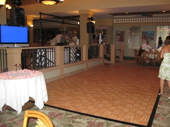 Oak Parquet Dance Floor at Gannon's Restaurant in Wailea, Maui