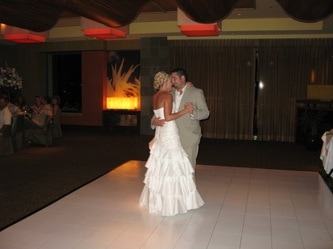 White Slate Dance Floor at Spago Restaurant in The Four Seasons Resort Wailea, Maui