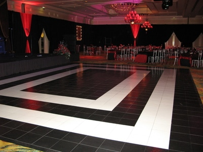 Custom Black & White Slate Dance Floor at The Ritz Carlton Resort in Kapalua
